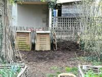Les bacs de compost mature